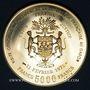 Monnaies Gabon. 5 000 francs 1971. Georges Pompidou. (PTL 900‰. 17,50 g)