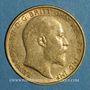 Monnaies Grande Bretagne. Edouard VII (1901-1910). 1/2 souverain 1910. (PTL 917‰. 3,99 g)
