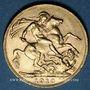 Monnaies Grande Bretagne. Edouard VII (1901-1910). Souverain 1910. Londres. (PTL 917‰. 7,99 g)