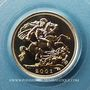 Monnaies Grande Bretagne. Elisabeth II (1952- ). 1/2 souverain 2001. (PTL 917/1000. 3,99 g)