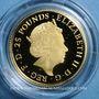 Monnaies Grande Bretagne. Elisabeth II (1952- ). 25 livres 2016. (PTL 999,9 /1000. 7,80 g (= 1/4 once)