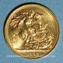 Monnaies Grande Bretagne. Elisabeth II (1952- /). Souverain 1958. (PTL 917‰. 7,99 g)