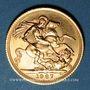 Monnaies Grande Bretagne. Elisabeth II (1952- /). Souverain 1967. (PTL 917/1000. 7,99 g)