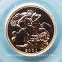 Monnaies Grande Bretagne. Elisabeth II (1952- ). Souverain 2001. (PTL 917/1000. 7,99 g)