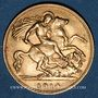 Monnaies Grande Bretagne. Georges V (1910-1936). 1/2 souverain 1914. (PTL 917‰. 3,99 g)