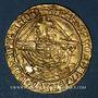 Monnaies Grande Bretagne. Henri V (restauration 1470-1471). Ange d'or. York