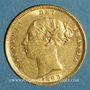Monnaies Grande Bretagne. Victoria (1837-1901). 1/2 souverain 1883. (PTL 917‰. 3,99 g)