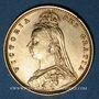 Monnaies Grande-Bretagne. Victoria (1837-1901). 1/2 souverain 1892. (PTL 917‰. 3,99 g)