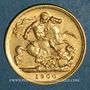 Monnaies Grande Bretagne. Victoria (1837-1901). 1/2 souverain 1900. (PTL 917‰. 3,99 g)