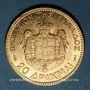 Monnaies Grèce. Georges I (1863-1913). 20 drachmes 1884. (PTL 900/1000. 6,45 g)