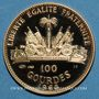 Monnaies Haïti. République. 100 gourdes 1968. 10e anniversaire de la révolution. (PTL 900‰. 19,75 g)
