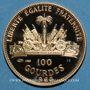 Monnaies Haïti. République. 100 gourdes 1968. 10e anniversaire de la révolution. (PTL 900/1000. 19,75 g)