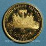 Monnaies Haïti. République (1863- /). 20 gourdes 1967. 10e anniversaire de la révolution. (PTL 900‰. 3,95 g)