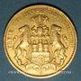 Monnaies Hambourg. 10 mark 1888 J. (PTL 900‰. 3,98 g). Montée