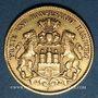 Monnaies Hambourg. 10 mark 1893 J. (PTL 900‰. 3,98 g)