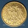 Monnaies Hambourg. 10 mark 1898 J. (PTL 900‰. 3,98 g)