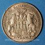 Monnaies Hambourg. 10 mark 1905 J. (PTL 900‰. 3,98 g)