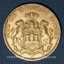 Monnaies Hambourg. 20 mark 1876 J. (PTL 900‰. 7,96 g)