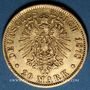 Monnaies Hambourg. 20 mark 1878 J. (PTL 900‰. 7,96 g)