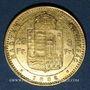 Monnaies Hongrie. François Joseph (1848-1916). 20 francs / 8 florins 1882KB. (PTL 900/1000. 6,45 g)