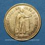 Monnaies Hongrie. François Joseph I (1848-1916). 10 couronnes 1892. (PTL 900‰. 3,39 g)