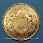 Monnaies Hongrie. François Joseph I (1848-1916). 10 couronnes 1898. (PTL 900/1000. 3,39 g)