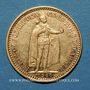 Monnaies Hongrie. François Joseph I (1848-1916). 10 couronnes 1900. (PTL 900‰. 3,39 g)