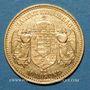 Monnaies Hongrie. François Joseph I (1848-1916). 10 couronnes 1905. (PTL 900‰. 3,39 g)