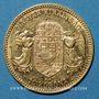 Monnaies Hongrie. François Joseph I (1848-1916). 10 couronnes 1908. (PTL 900‰. 3,39 g)