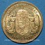Monnaies Hongrie. François Joseph I (1848-1916). 10 couronnes 1908. (PTL 900/1000. 3,39 g)