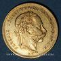 Monnaies Hongrie. François Joseph I (1848-1916). 20 francs / 8 florins 1872KB. (PTL 900/1000. 6,45 g)