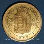 Monnaies Hongrie. François Joseph I (1848-1916). 20 francs / 8 florins 1877 KB. (PTL 900‰. 6,45 g)
