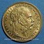 Monnaies Hongrie. François Joseph I (1848-1916). 20 francs / 8 florins 1887 KB. (PTL 900‰. 6,45 g)