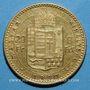 Monnaies Hongrie. François Joseph I (1848-1916). 20 francs / 8 florins 1890 KB. (PTL 900‰. 6,45 g)