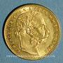 Monnaies Hongrie. François Joseph I (1848-1916). 20 francs / 8 florins 1891 KB. (PTL 900‰. 6,45 g)