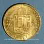 Monnaies Hongrie. François Joseph I (1848-1916). 20 francs / 8 florins 1891KB. (PTL 900/1000. 6,45 g)