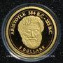 Monnaies Iles Cook. Elisabeth II (1952 -/). 5 dollars 2008 (PTL 999‰. 0,5 g)