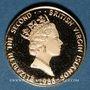 Monnaies Iles Vierges. Elisabeth II (1952- /). 50 dollars 1988. (PTL 500‰. 2,07 g)