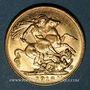 Monnaies Indes Britanniques. Georges V (1910-1936). Souverain 1918I, Mumbai (Bombay). (917 /1000. 7,99 g)