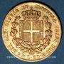 Monnaies Italie. Sardaigne. Charles Albert (1831-1849). 20 lires 1835 P. Gênes. (PTL 900‰. 6,45 g)