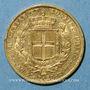 Monnaies Italie. Sardaigne. Charles Albert (1831-1849). 20 lires 1840 P. Gênes. (PTL 900‰. 6,45 g)