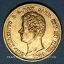 Monnaies Italie. Sardaigne. Charles Albert (1831-1849). 20 lires 1849 P. Gênes. (PTL 900‰. 6,45 g)