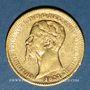 Monnaies Italie. Sardaigne. Victor Emmanuel II (1849-1861). 20 lires 1851B. Turin. (PTL 900/1000. 6,45 g)