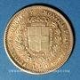 Monnaies Italie. Sardaigne. Victor Emmanuel II (1849-1861). 20 lires 1852P. Gênes. (PTL 900/1000. 6,45 g)