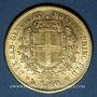 Monnaies Italie. Sardaigne. Victor Emmanuel II (1849-1861). 20 lires 1859 P. Gênes. (PTL 900‰. 6,45 g)