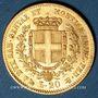 Monnaies Italie. Sardaigne. Victor Emmanuel II (1849-1861), 20 lires 1859P Gênes. (PTL 900/1000. 6,45 g)