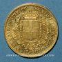 Monnaies Italie. Sardaigne. Victor Emmanuel II (1849-1878). 20 lires 1858P. Gênes. 900 /1000. 6,45 g
