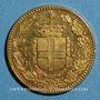 Monnaies Italie. Umberto I (1878-1900). 20 lires 1/1891 R. Rome. (PTL 900‰. 6,45 g)