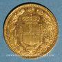 Monnaies Italie. Umberto I (1878-1900). 20 lires 1881R. Rome. (PTL 900/1000. 6,45 g)
