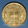 Monnaies Italie. Umberto I (1878-1900). 20 lires 1888/8 R. Rome. (PTL 900‰. 6,45 g)